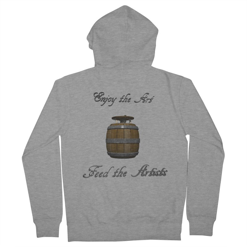Feed the Artists (Barrel Gnome) Men's Zip-Up Hoody by CIULLO CORPORATION's Artist Shop