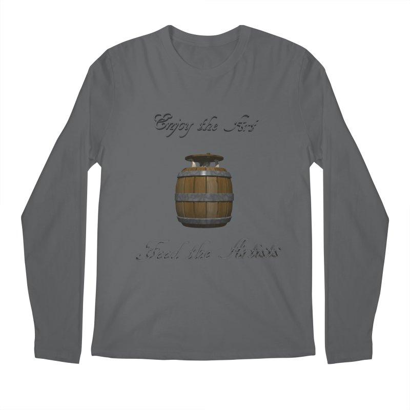 Feed the Artists (Barrel Gnome) Men's Longsleeve T-Shirt by CIULLO CORPORATION's Artist Shop