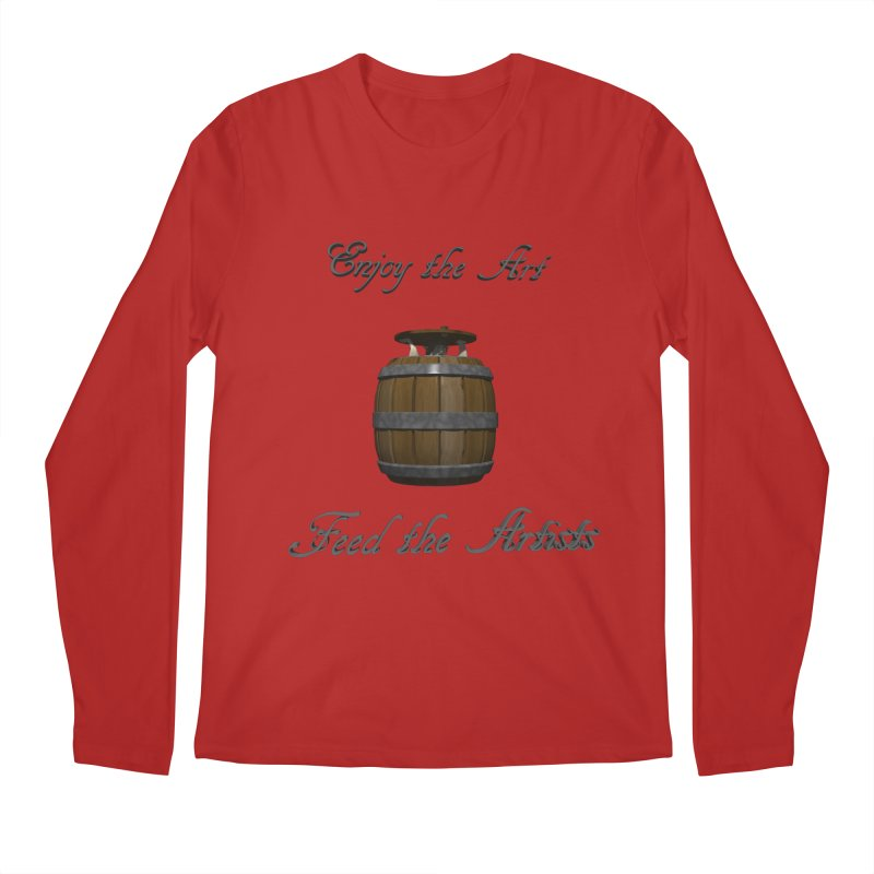 Feed the Artists (Barrel Gnome) Men's Longsleeve T-Shirt by CIULLO CORPORATION's Artist Shop