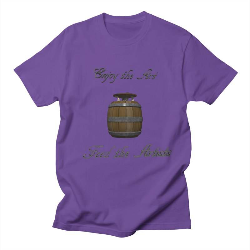Feed the Artists (Barrel Gnome) Men's T-Shirt by CIULLO CORPORATION's Artist Shop