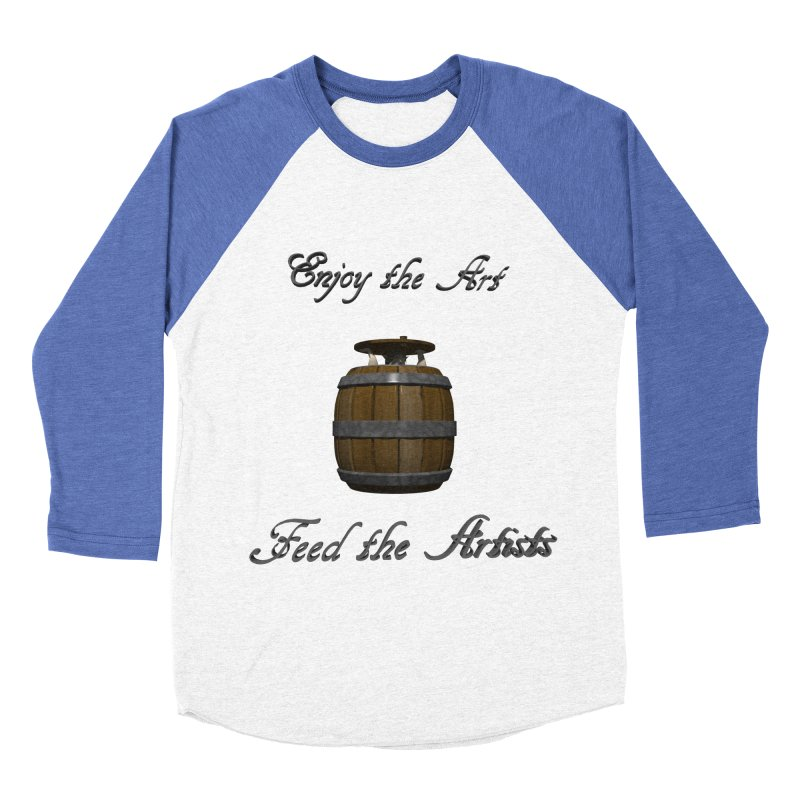 Feed the Artists (Barrel Gnome) Women's Baseball Triblend T-Shirt by CIULLO CORPORATION's Artist Shop
