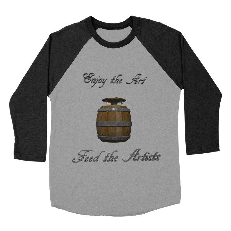 Feed the Artists (Barrel Gnome) Men's Baseball Triblend T-Shirt by CIULLO CORPORATION's Artist Shop