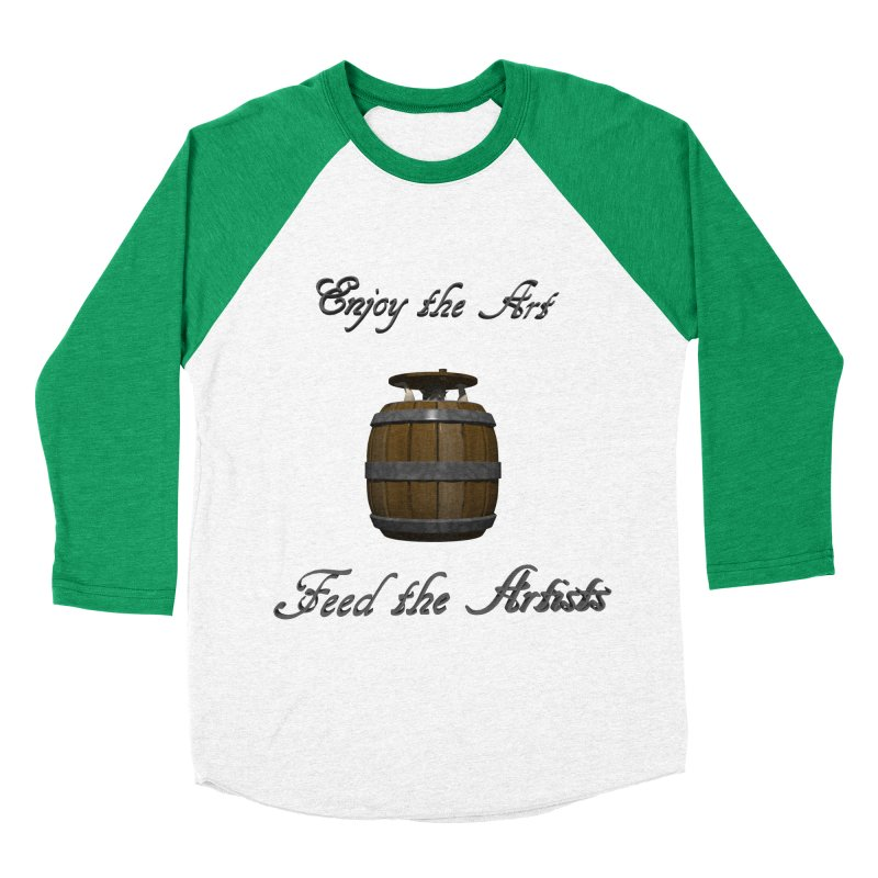 Feed the Artists (Barrel Gnome) Men's Baseball Triblend T-Shirt by CIULLO CORPORATION's Artist Shop
