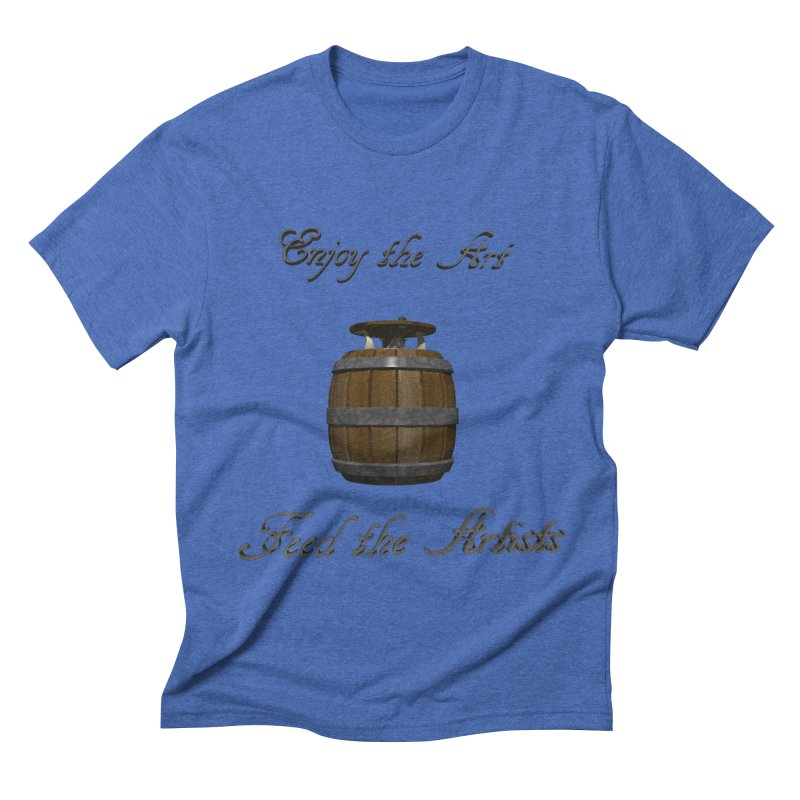Feed the Artists (Barrel Gnome) Men's Triblend T-shirt by CIULLO CORPORATION's Artist Shop