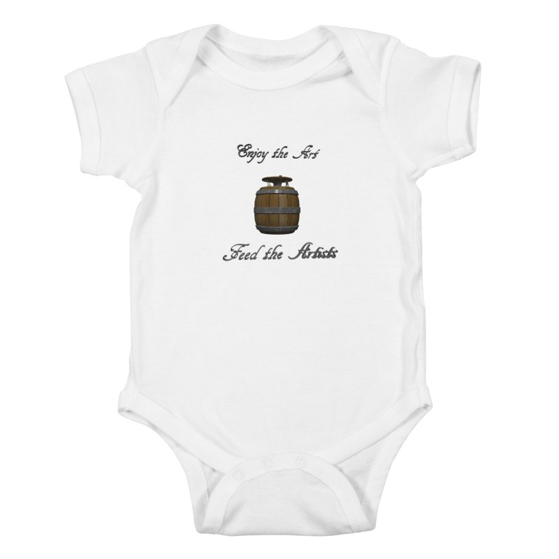 Feed the Artists (Barrel Gnome) Kids Baby Bodysuit by CIULLO CORPORATION's Artist Shop