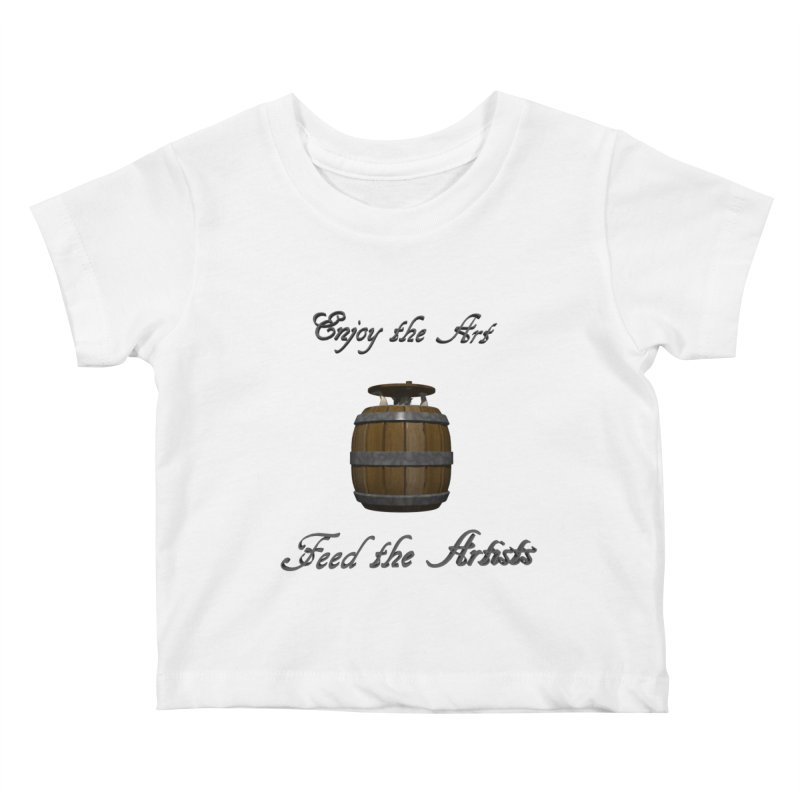 Feed the Artists (Barrel Gnome) Kids Baby T-Shirt by CIULLO CORPORATION's Artist Shop