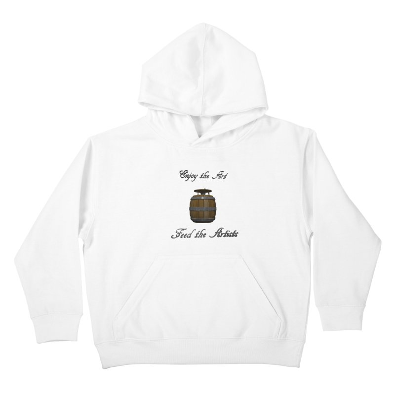 Feed the Artists (Barrel Gnome) Kids Pullover Hoody by CIULLO CORPORATION's Artist Shop