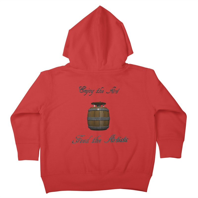 Feed the Artists (Barrel Gnome) Kids Toddler Zip-Up Hoody by CIULLO CORPORATION's Artist Shop