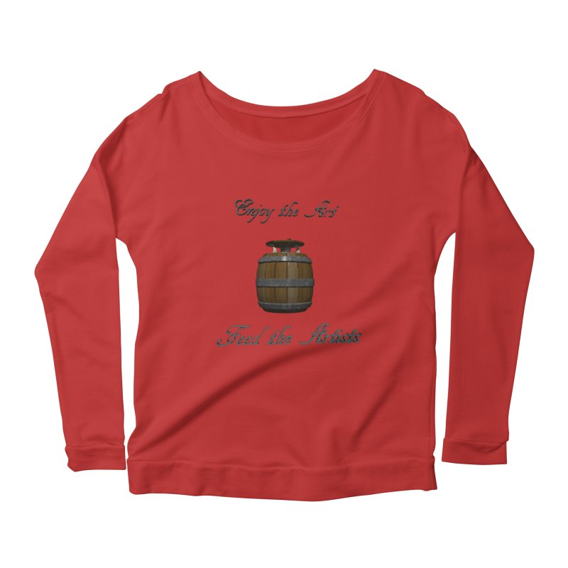Feed the Artists (Barrel Gnome) Women's Longsleeve Scoopneck  by CIULLO CORPORATION's Artist Shop