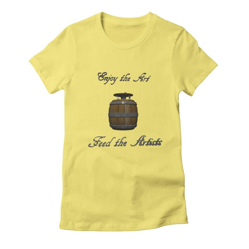 Feed the Artists (Barrel Gnome) Women's Fitted T-Shirt by CIULLO CORPORATION's Artist Shop