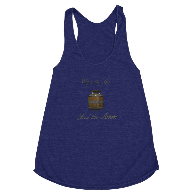 Feed the Artists (Barrel Gnome) Women's Racerback Triblend Tank by CIULLO CORPORATION's Artist Shop