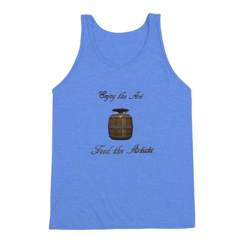 Feed the Artists (Barrel Gnome) Men's Triblend Tank by CIULLO CORPORATION's Artist Shop
