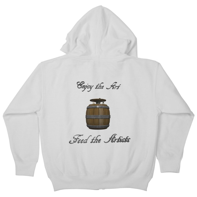 Feed the Artists (Barrel Gnome) Kids Zip-Up Hoody by CIULLO CORPORATION's Artist Shop