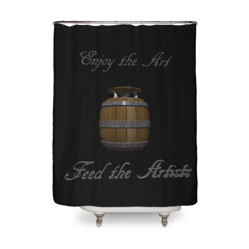 Feed the Artists (Barrel Gnome) Home Shower Curtain by CIULLO CORPORATION's Artist Shop