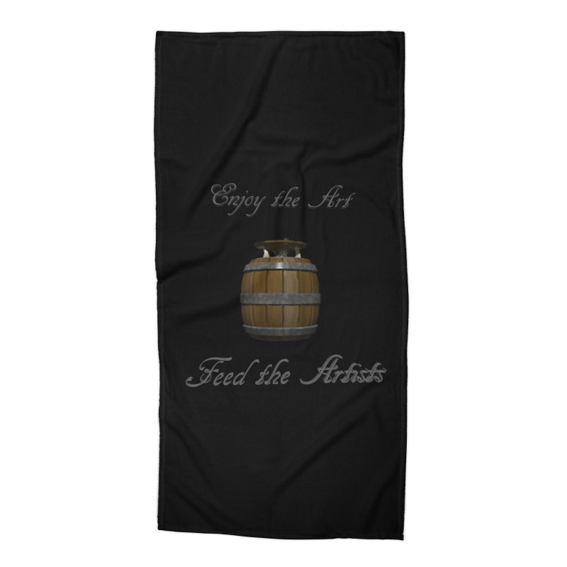 Feed the Artists (Barrel Gnome) Accessories Beach Towel by CIULLO CORPORATION's Artist Shop
