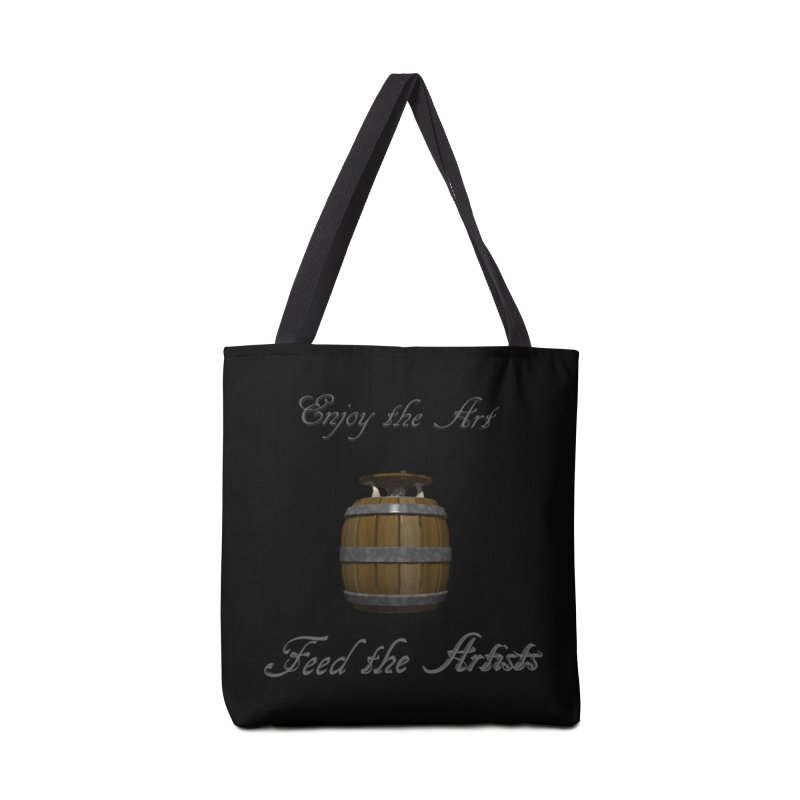 Feed the Artists (Barrel Gnome) Accessories Bag by CIULLO CORPORATION's Artist Shop