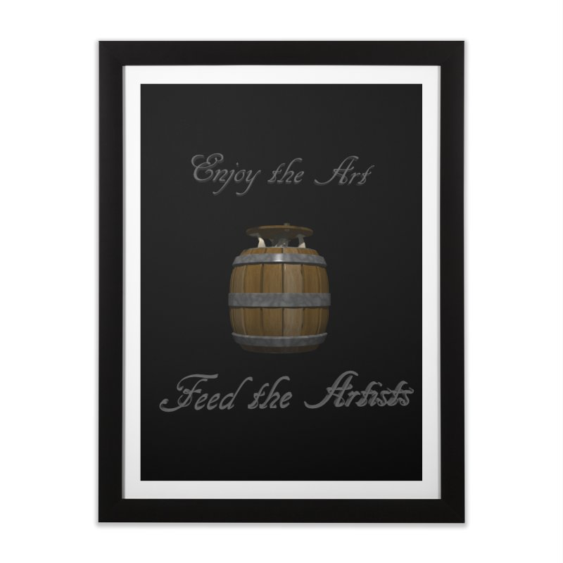 Feed the Artists (Barrel Gnome) Home Framed Fine Art Print by CIULLO CORPORATION's Artist Shop