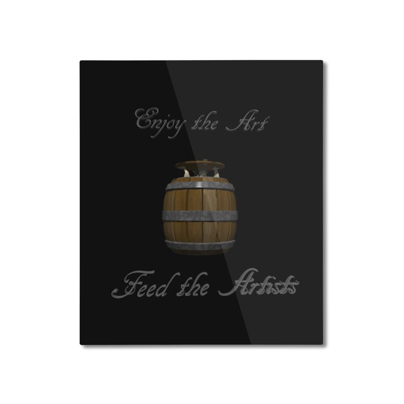 Feed the Artists (Barrel Gnome) Home Mounted Aluminum Print by CIULLO CORPORATION's Artist Shop