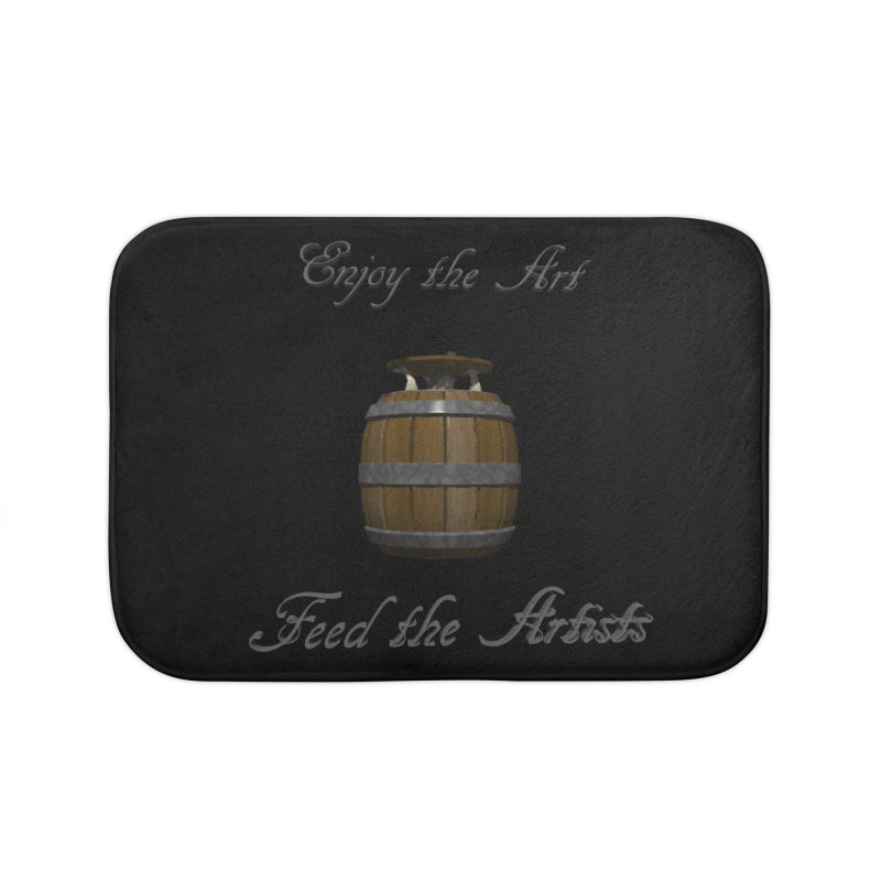 Feed the Artists (Barrel Gnome) Home Bath Mat by CIULLO CORPORATION's Artist Shop