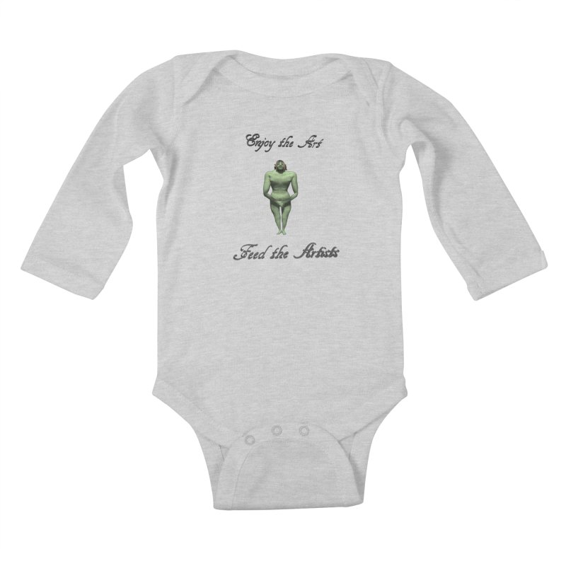 Feed the Artists (Orc) Kids Baby Longsleeve Bodysuit by CIULLO CORPORATION's Artist Shop