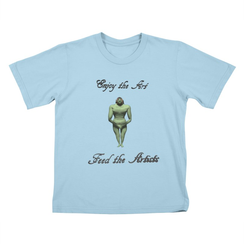Feed the Artists (Orc) Kids T-Shirt by CIULLO CORPORATION's Artist Shop