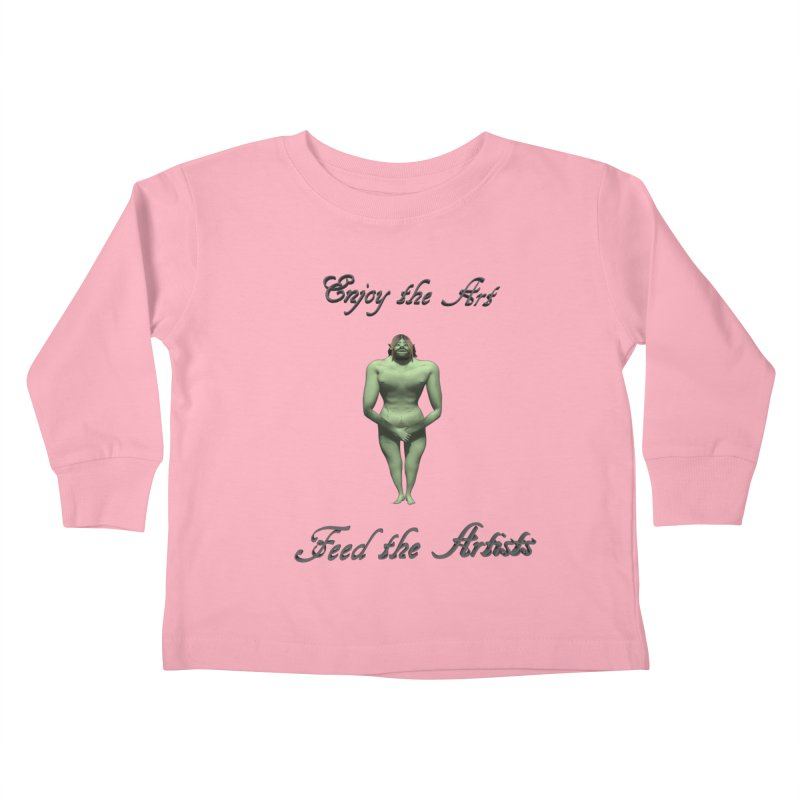 Feed the Artists (Orc) Kids Toddler Longsleeve T-Shirt by CIULLO CORPORATION's Artist Shop