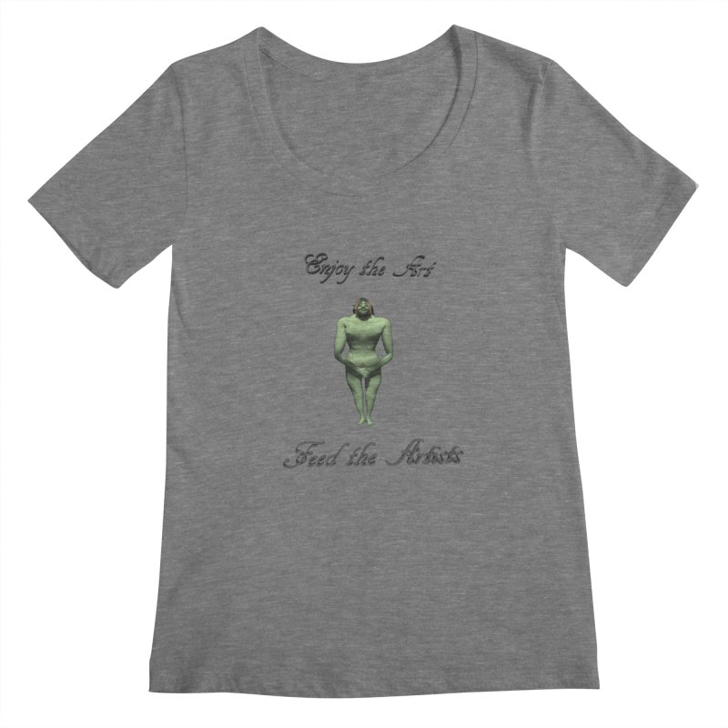 Feed the Artists (Orc) Women's Scoopneck by CIULLO CORPORATION's Artist Shop