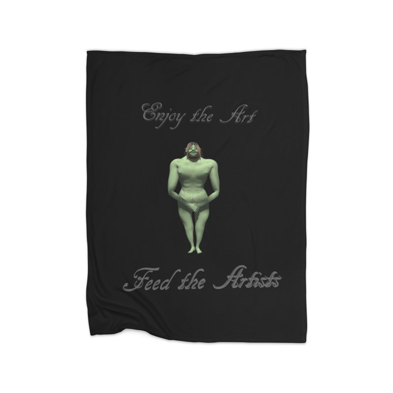 Feed the Artists (Orc) Home Blanket by CIULLO CORPORATION's Artist Shop