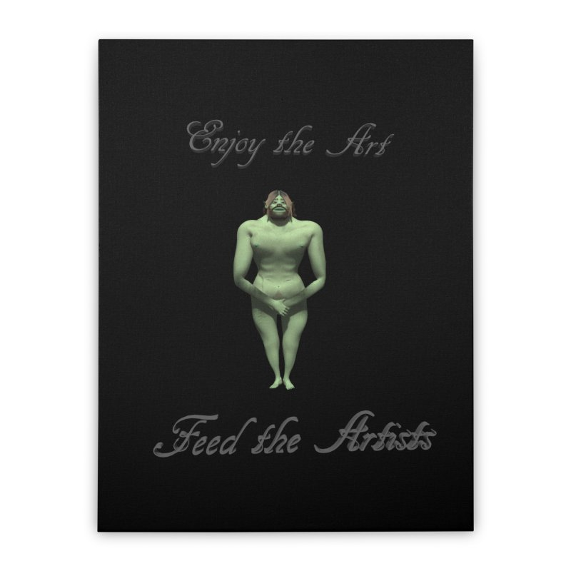 Feed the Artists (Orc) Home Stretched Canvas by CIULLO CORPORATION's Artist Shop