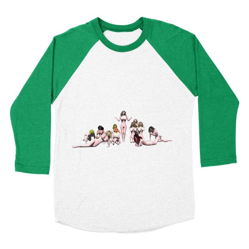 Babes of CIULLO CORPORATION (arcadiane) Men's Baseball Triblend T-Shirt by CIULLO CORPORATION's Artist Shop