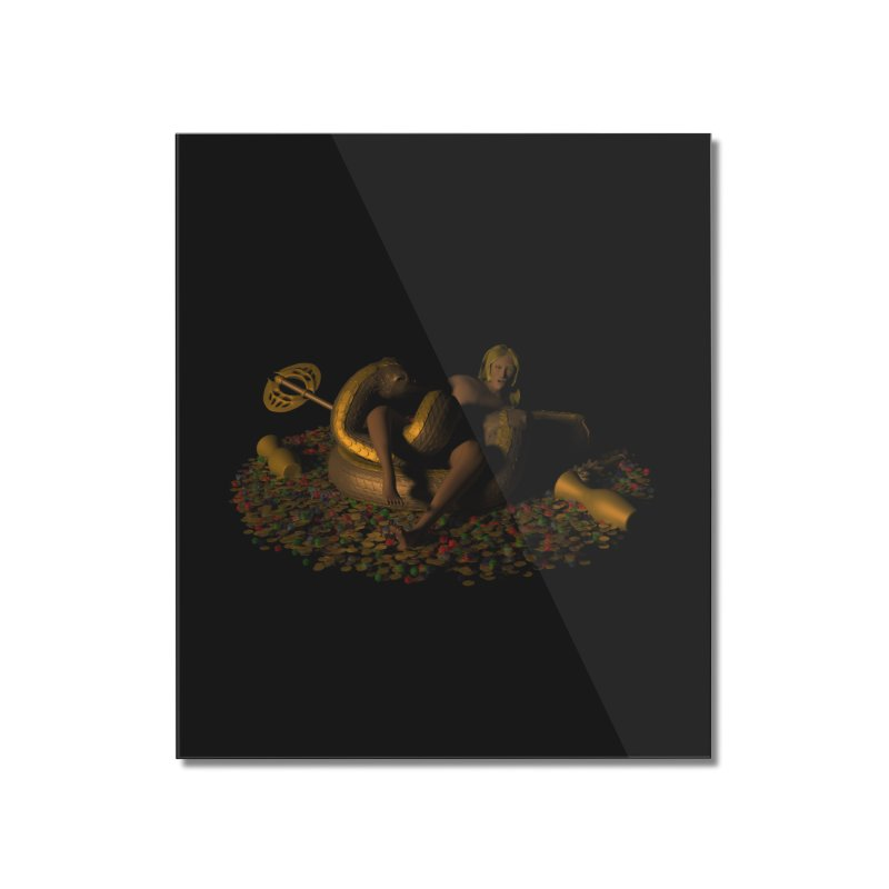 Cursed Treasure Home Mounted Acrylic Print by CIULLO CORPORATION's Artist Shop