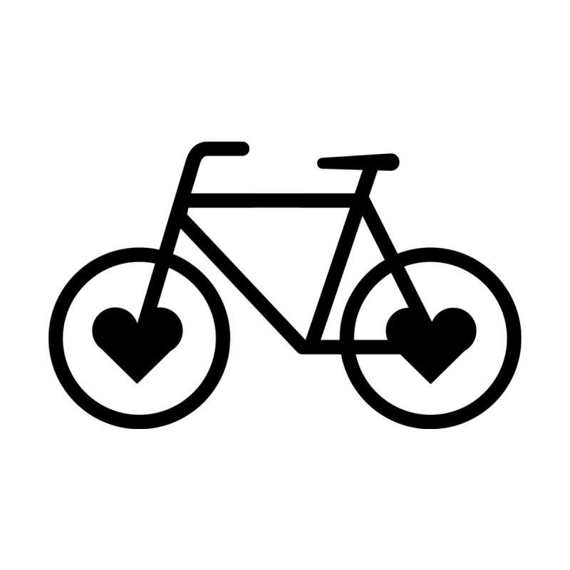 Black Heart Bicycle   by cjsdesign's Artist Shop