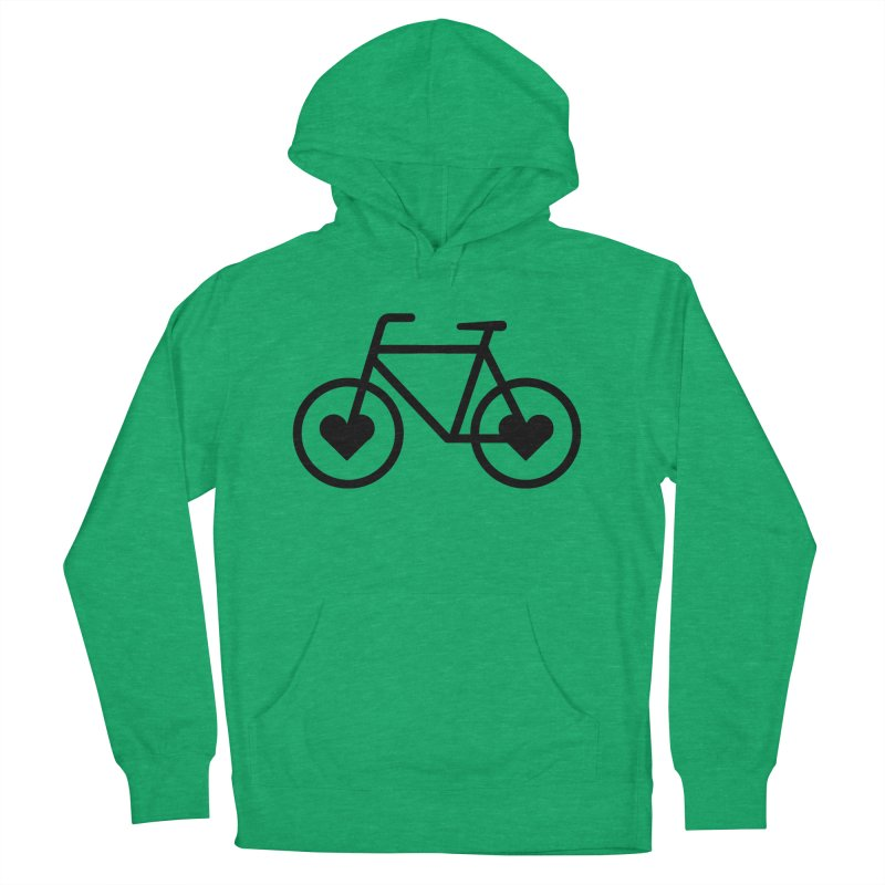 Black Heart Bicycle Women's Pullover Hoody by cjsdesign's Artist Shop