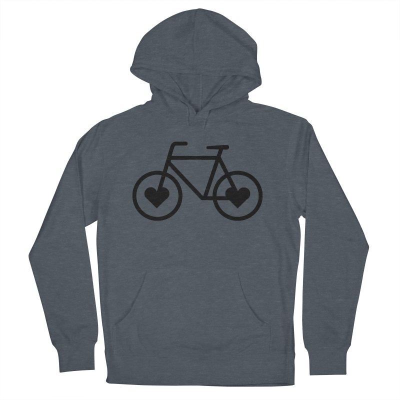 Black Heart Bicycle Women's Pullover Hoody by cjsdesign's Artist Shop