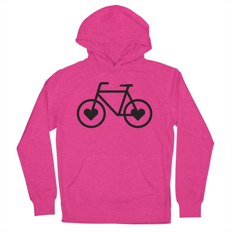 Black Heart Bicycle Men's Pullover Hoody by cjsdesign's Artist Shop