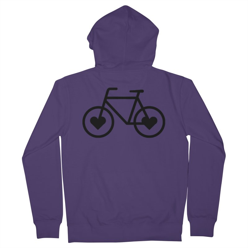 Black Heart Bicycle Women's Zip-Up Hoody by cjsdesign's Artist Shop