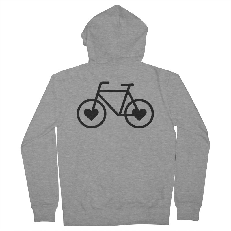 Black Heart Bicycle Men's Zip-Up Hoody by cjsdesign's Artist Shop