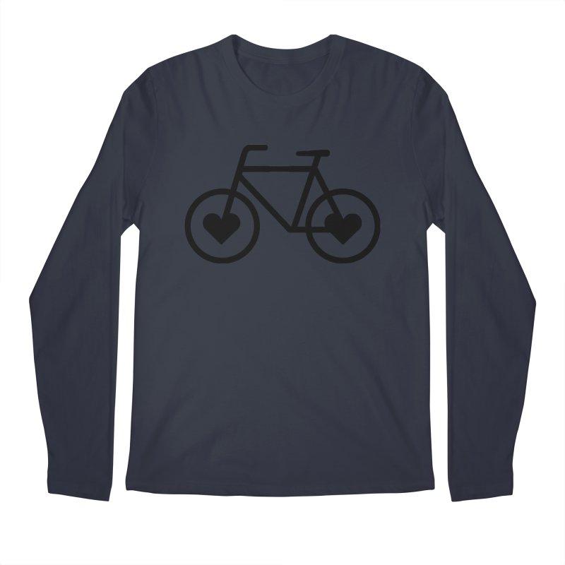 Black Heart Bicycle Men's Longsleeve T-Shirt by cjsdesign's Artist Shop