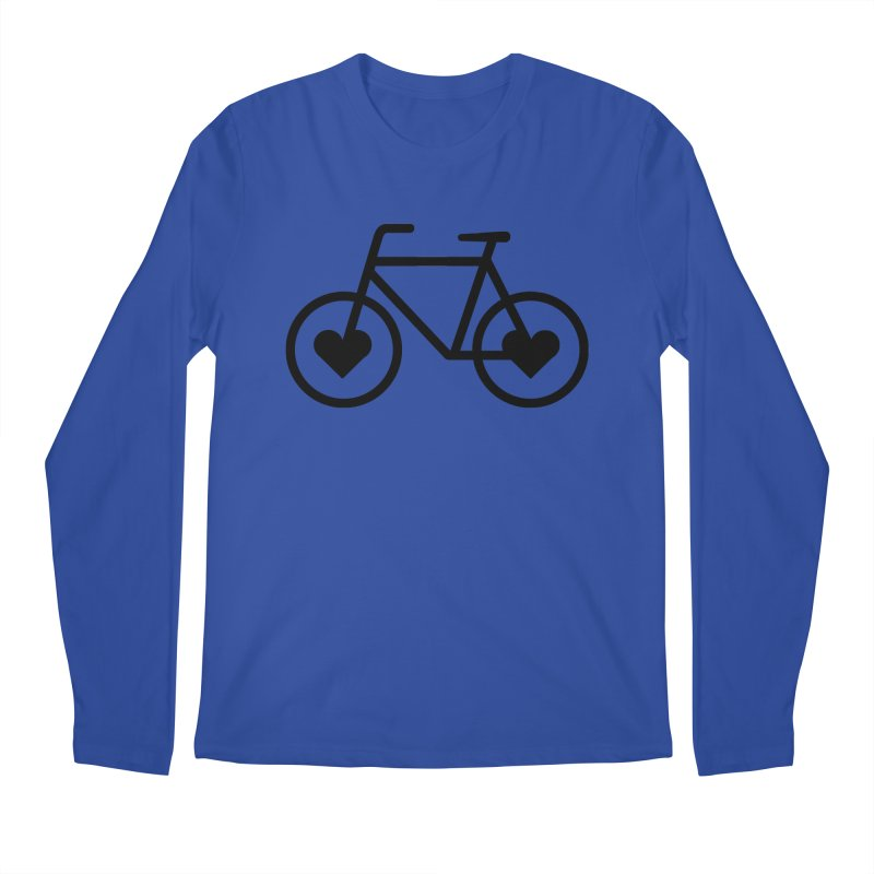 Black Heart Bicycle Men's Longsleeve T-Shirt by cjsdesign's Artist Shop