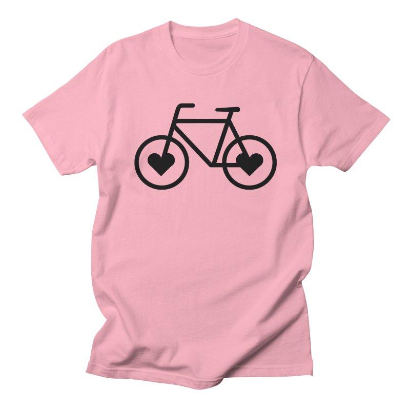 Black Heart Bicycle Men's T-Shirt by cjsdesign's Artist Shop
