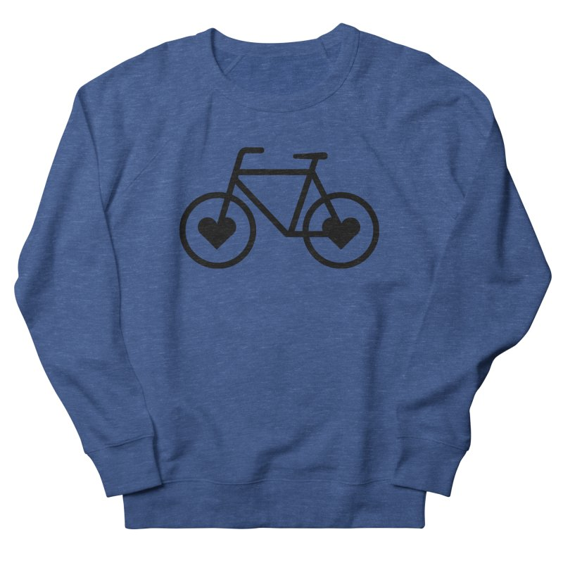 Black Heart Bicycle Women's Sweatshirt by cjsdesign's Artist Shop