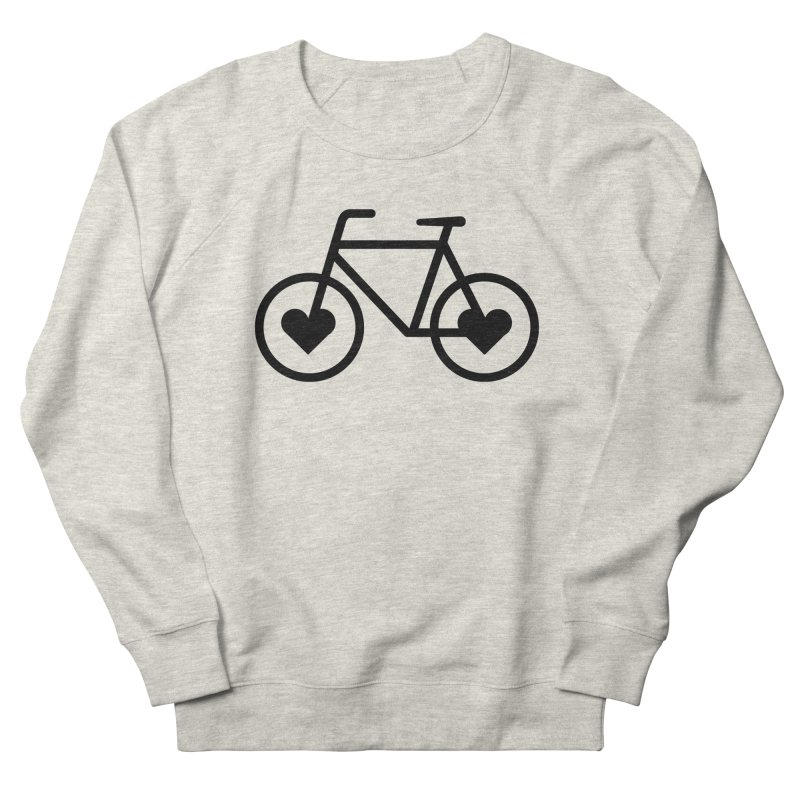 Black Heart Bicycle Men's Sweatshirt by cjsdesign's Artist Shop