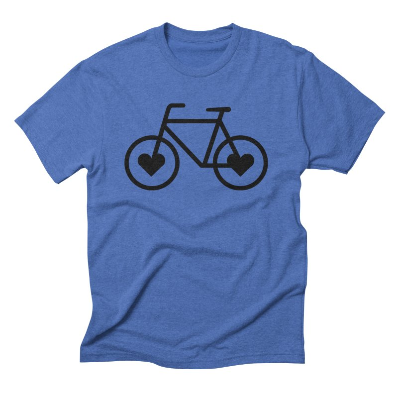Black Heart Bicycle Men's Triblend T-Shirt by cjsdesign's Artist Shop