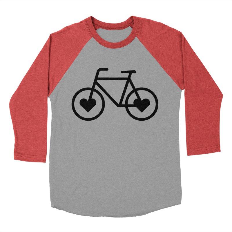 Black Heart Bicycle Women's Baseball Triblend T-Shirt by cjsdesign's Artist Shop