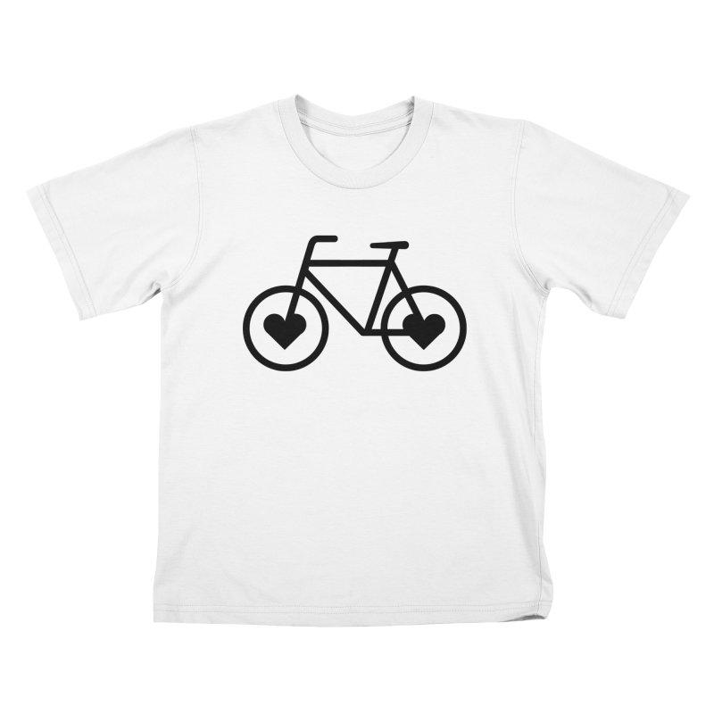 Black Heart Bicycle Kids T-shirt by cjsdesign's Artist Shop