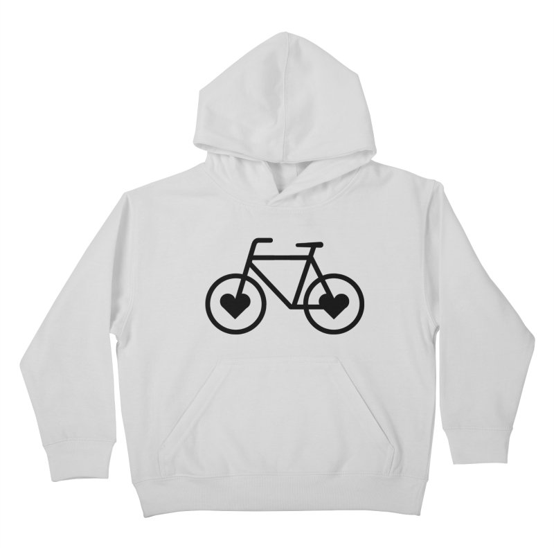 Black Heart Bicycle Kids Pullover Hoody by cjsdesign's Artist Shop