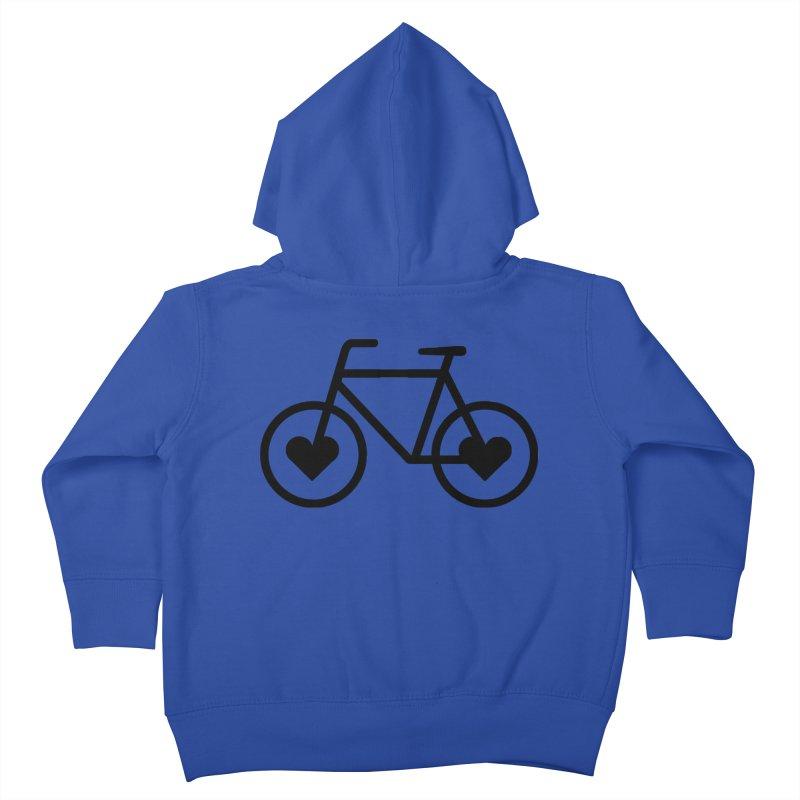 Black Heart Bicycle Kids Toddler Zip-Up Hoody by cjsdesign's Artist Shop