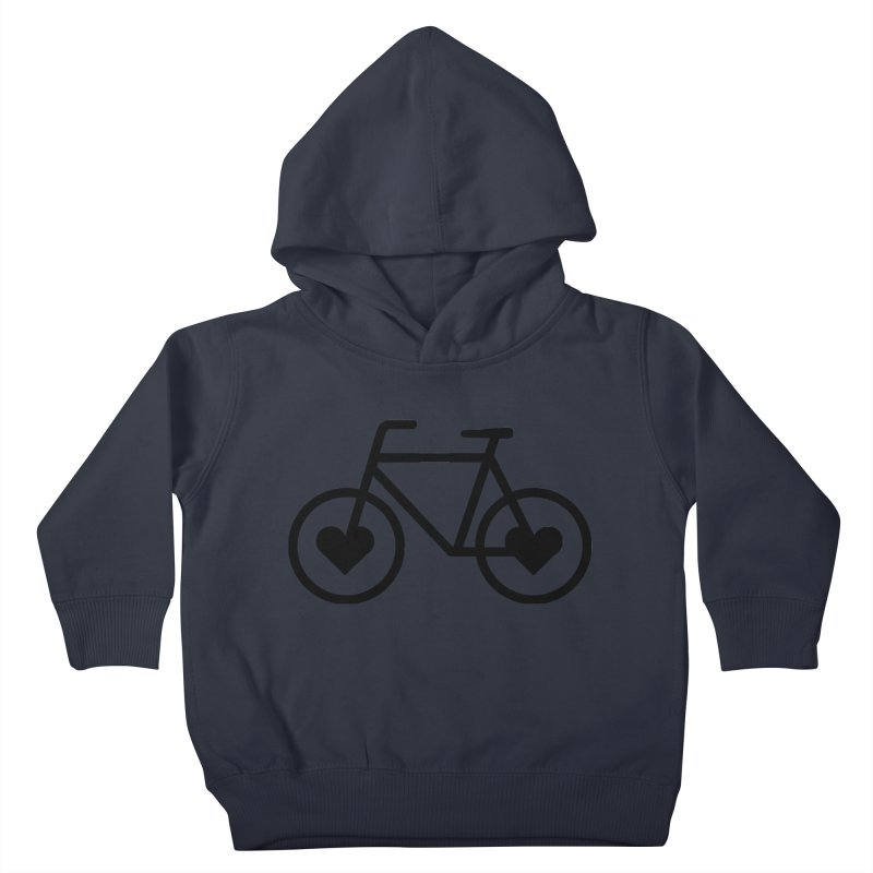 Black Heart Bicycle Kids Toddler Pullover Hoody by cjsdesign's Artist Shop