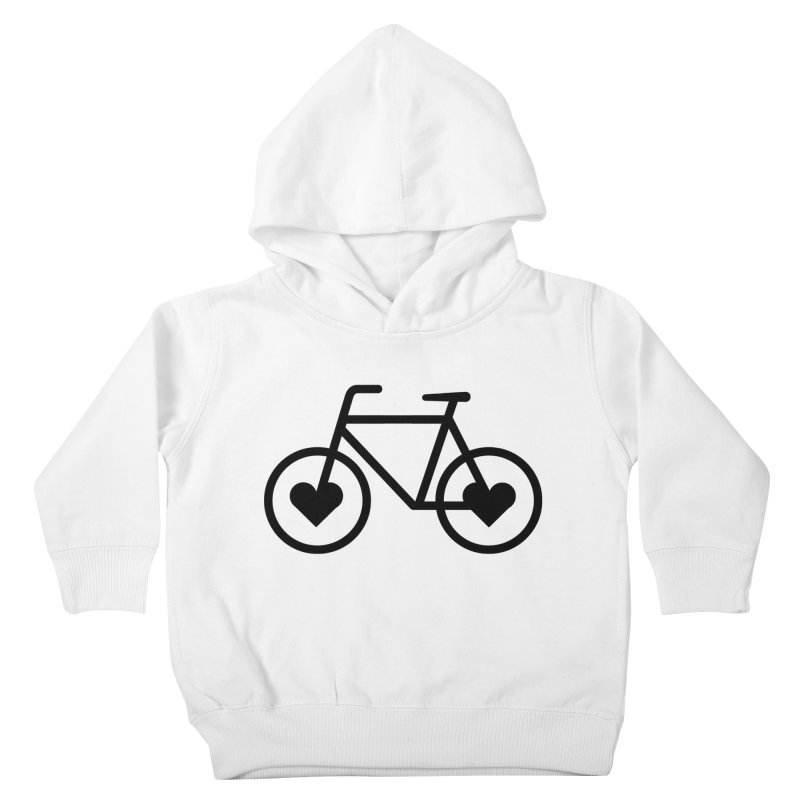 Black Heart Bicycle Kids Toddler Pullover Hoody by cjsdesign's Artist Shop