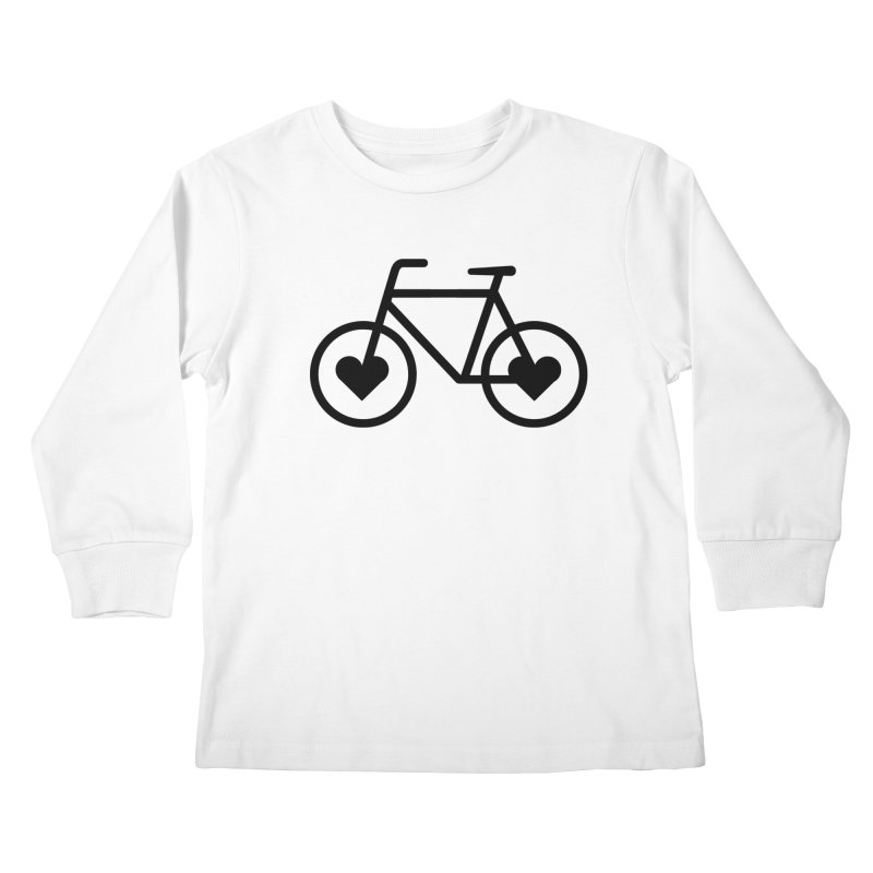 Black Heart Bicycle Kids Longsleeve T-Shirt by cjsdesign's Artist Shop
